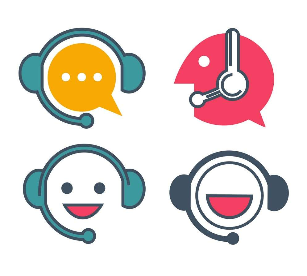Customer support service online chat vector icons